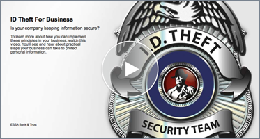 Interactive Video Player on ID Theft for Business